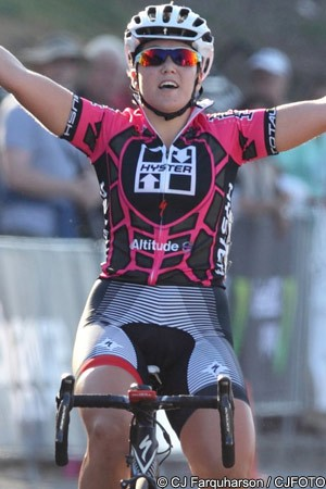 Hosking and her team-mate Loren Rowney were officially riding for the Total  Rush team in the event. 88566fc87