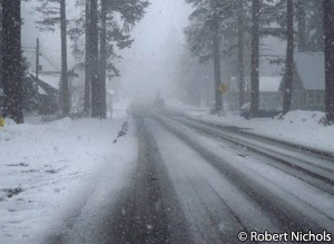 Tour of California - Lake Tahoe snow