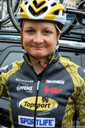 Grace Verbeke (Topsport Vlaanderen 2012-Ridley) has suffered a fractured eye socket after being hit by a truck while out on a training ride. - Verbeke_Grace_RVV11ba